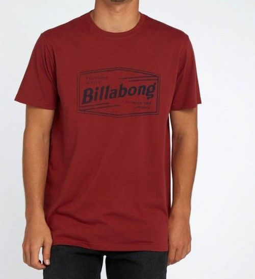 BILLABONG MENS T SHIRT.NEW LABREA RED SHORT SLEEVED COTTON SURF TOP TEE 8S 17 41